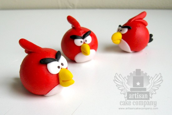 Edible Angry Birds Toppers 4