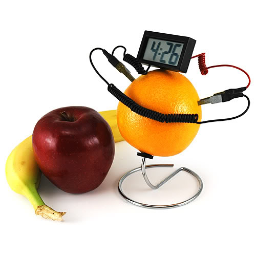 Fruit Powered Clock 3