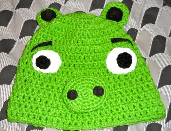 Green Pig Beanie