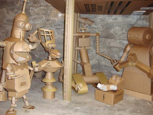 Larger View Cardboard Nativity