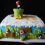 Mario Brothers Cake Back