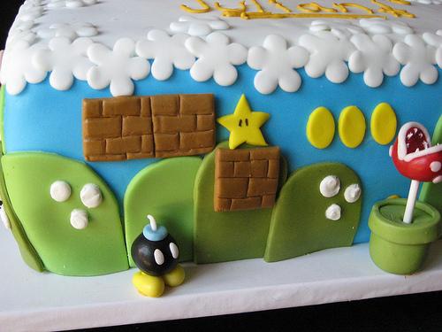 Mario Birthday Cake Bomb omb
