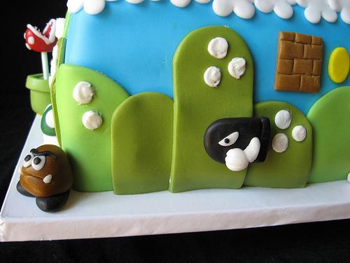Mario Birthday cake Goomba