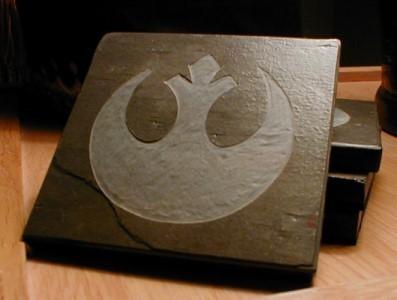 Star Wars Rebel Logo Slate Coasters