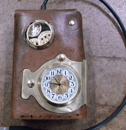 Steampunk Hard Drive Case