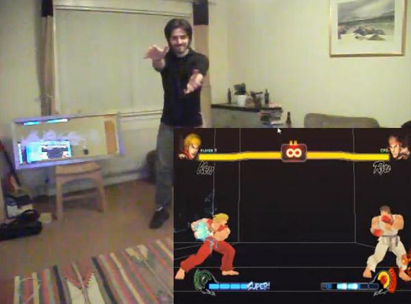 Street Fighter IV Kinect Hack Hadouken