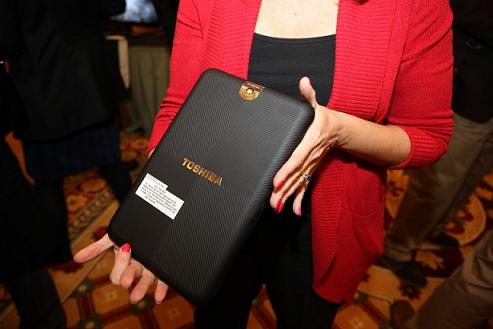 Toshiba tablet backside