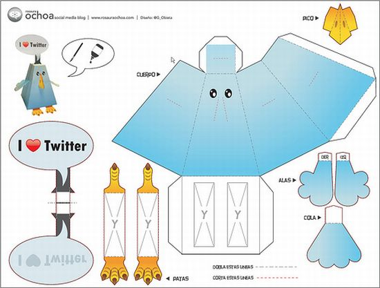 Tweet Along With The Twitter Paper Toy Walyou