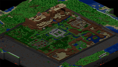 Zelda recreated with Minecraft
