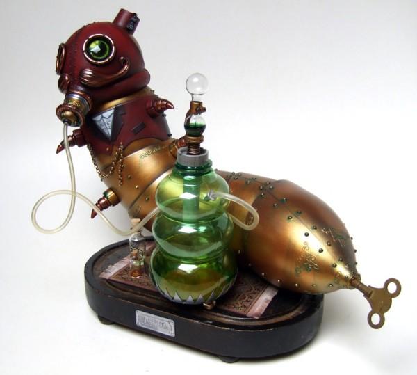 steampunk alice in wonderland caterpillar design