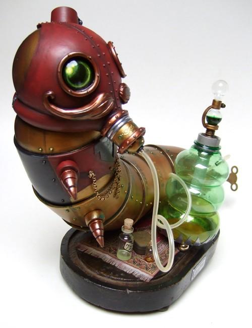 steampunk caterpillar alice in wonderland design