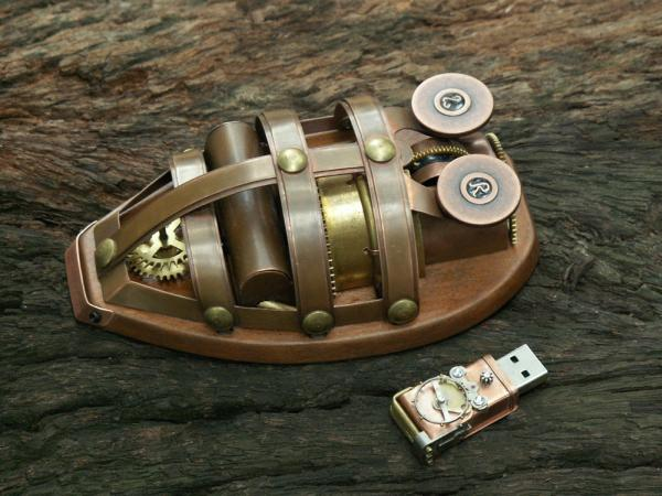 steampunk mouse usb design art 3