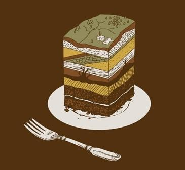 A Slice of Earth Cake Geology Inspiration