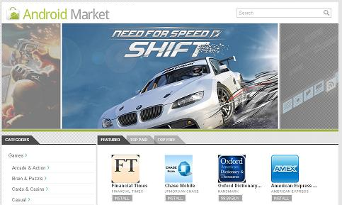 Android Market Web-based