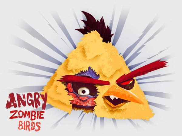 Angry Zombie Yellow Bird