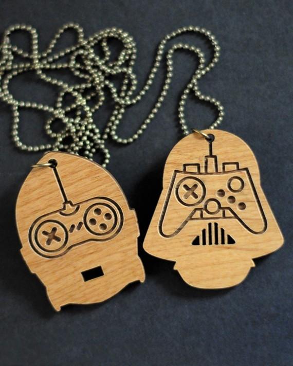 Darth Vader C3PO pendants