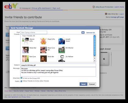 Group Gift Facebook plug-in