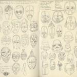 Star Wars helmets rough sketch