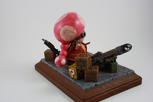 Zombie Hunter Toadette Side