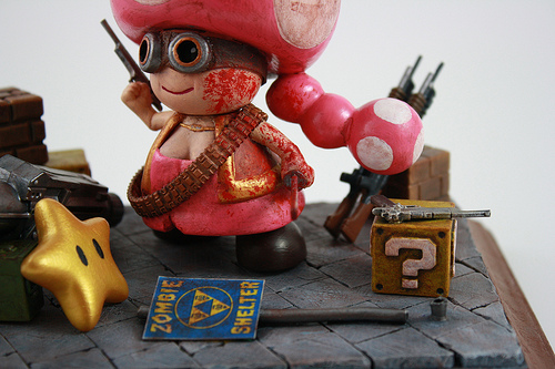 Zombie Hunter Toadette close up