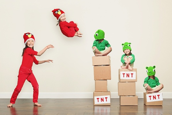 angry birds children real