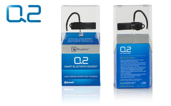 blueant q2 smart bluetooth headset image
