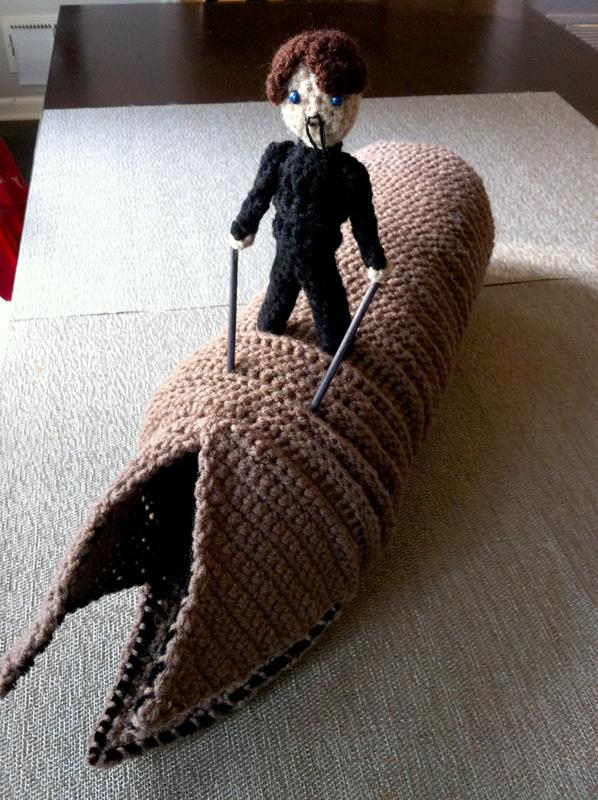 dune sandworm crochet art