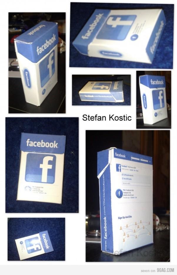 facebook cigarettes concept