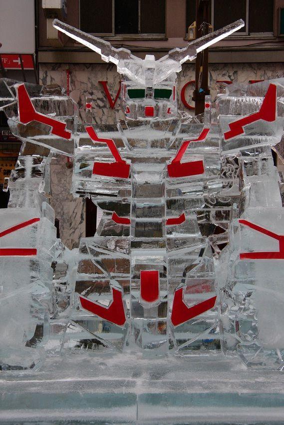 gundam ice sculpture