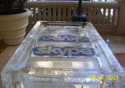 ice-sculpted pool table skype