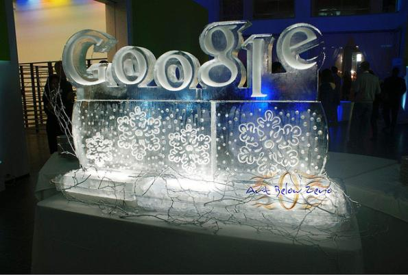 ice sculptures google geeks 1