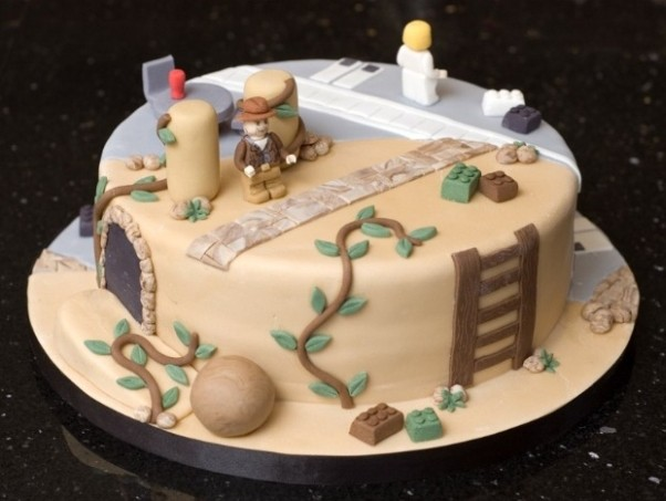 indiana jones star wars cake design