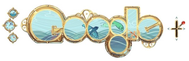 jules verne birthday google doodle