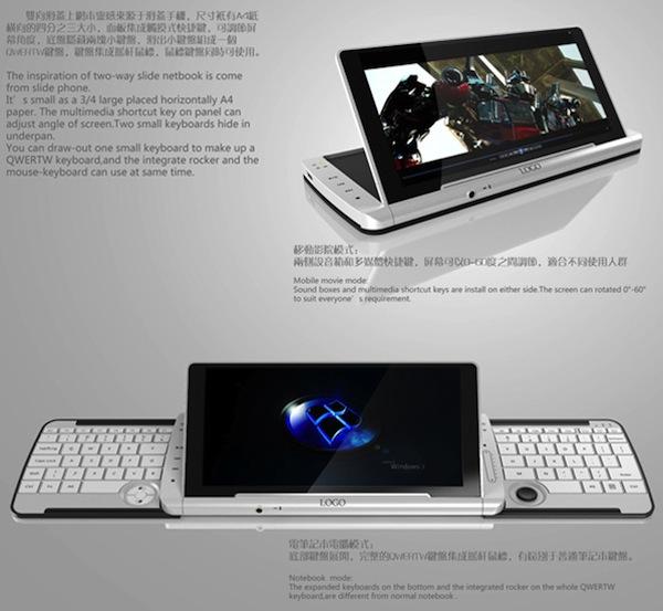 Lin Jian Feng Netbook Concept Specs