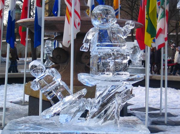 lego ice sculpture geeks 1