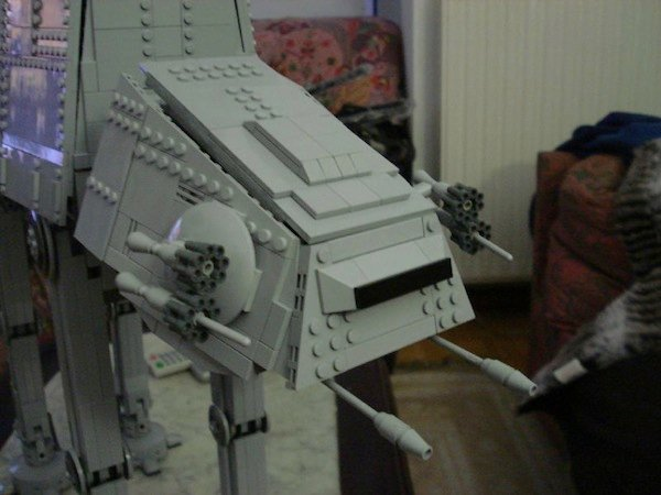 Lego AT-AT and Stormtrooper Minifigs