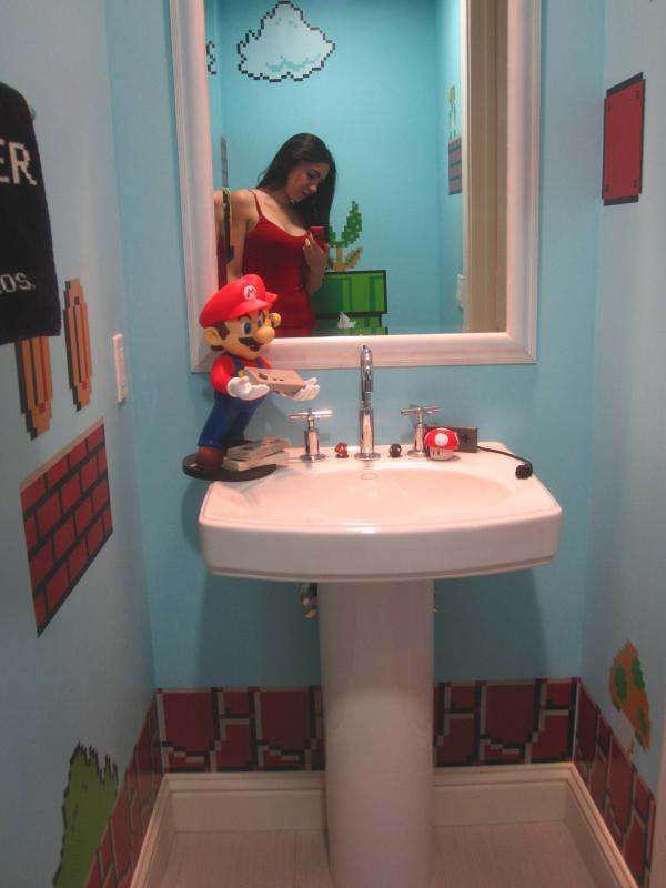 super mario bros bathroom design