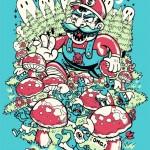 mario in smurf land t shirt
