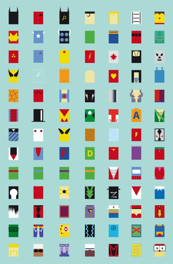 minimalist superheroes avatars fabian gonzales