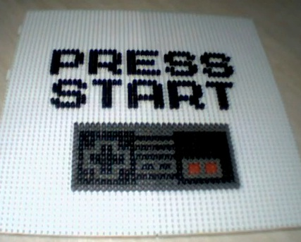 nes stop motion perler beads video
