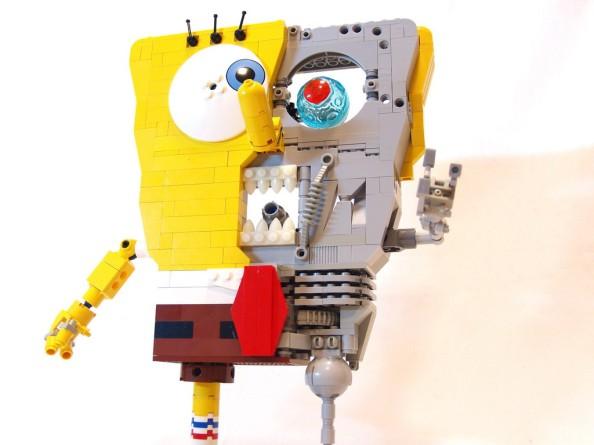 spongebob terminator lego design