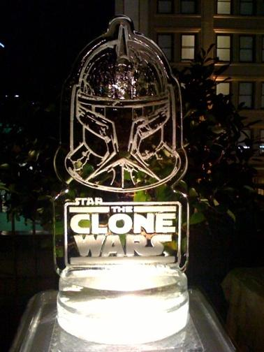 star wars ice sculptures r2d2 proncess leia c3po 1
