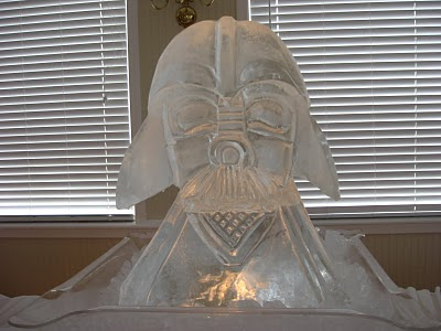 star wars ice sculptures darth vader