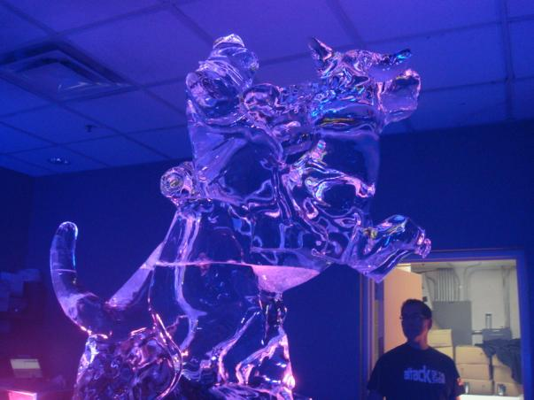 star wars ice sculptures tauntaun