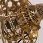 steampunk microphone closeup 2