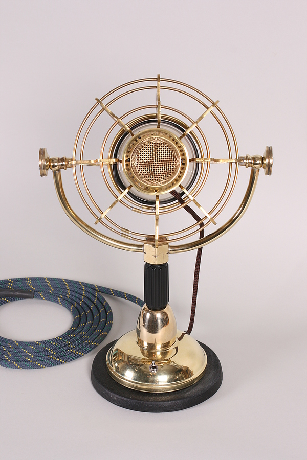 steampunk microphone front