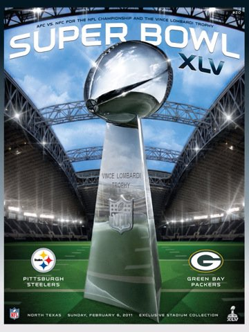 super bowl xlv official program ipad app
