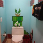 super mario bros bathroom art