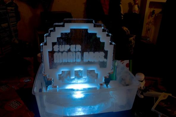 super mario bros ice sculpture mushroom