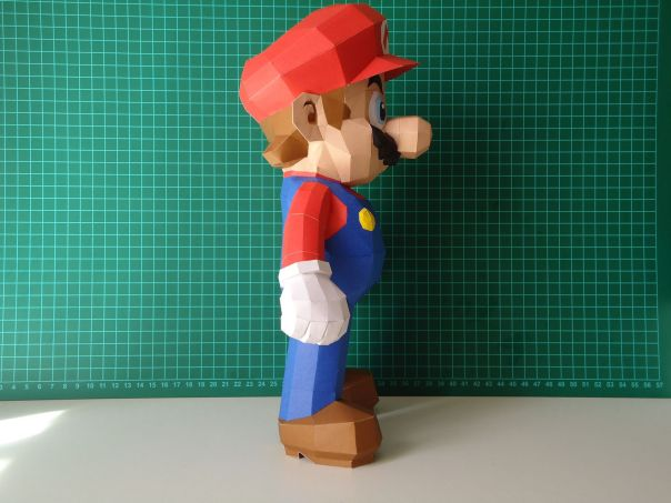 super mario bros papercraft model design 2